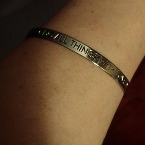 """Jewelry - FINAL PRICE!! """"Do All Things With Love"""" Bracelet"""